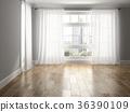 Interior empty room 3D rendering 36390109