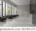 Interior of a lobby hotel reception  36390155