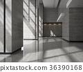 Interior of a lobby hotel reception 3D 36390168