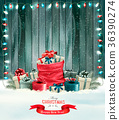 Holiday Christmas background with a sack 36390274