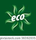 eco, logo, ecology 36392035