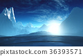 Antarctica Ice Field and Mountains 36393571