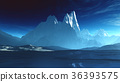 Antarctica Ice Field and Mountains 36393575