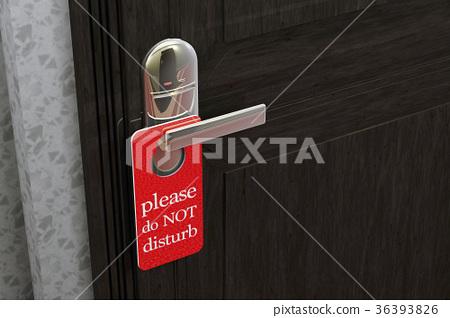 Do Not Disturb Sign Hanging on Room Door Hotel 36393826