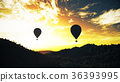 Hot Air Balloons Lush Natural Wilderness Jungle 36393995