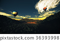 Hot Air Balloons Lush Natural Wilderness Jungle 36393998