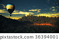 Hot Air Balloons Lush Natural Wilderness Jungle 36394001