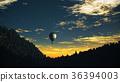 Hot Air Balloons Lush Natural Wilderness Jungle 36394003