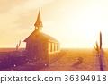 Old Wooden Christian Desert Chapel 36394918
