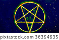 Inverted Pentagram Symbol with Face of the Evil 36394935
