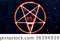 Inverted Pentagram Symbol with Face of the Evil 36394939