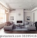 interior, modern, furniture 36395416