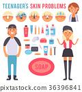 Facial care skin problems vector clean 36396841