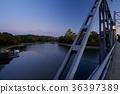 라이트 업 된 오카야마 성 (달맞이 다리보다) 36397389