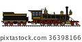 Vintage american steam locomotive 36398166
