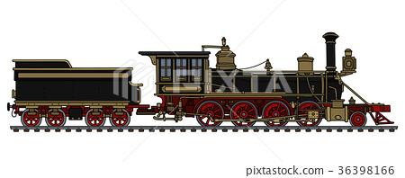 Vintage american steam locomotive 36398166