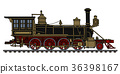 Vintage american steam locomotive 36398167