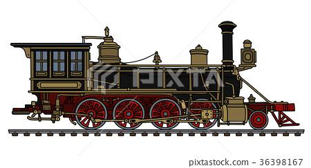 Vintage american steam locomotive 36398167