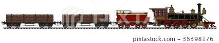 Vintage american steam train 36398176