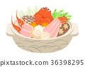 螃蟹火鍋 平底鍋 鍋 36398295