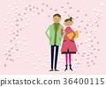 櫻花圖像。春天的背景。櫻花暴風雪。日曆。季節。春天。 36400115