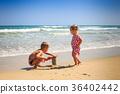 girl, boy, beach 36402442