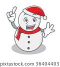 Finger snowman character cartoon style 36404403