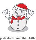 silly snowman Christmas 36404407