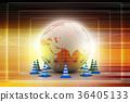 Globe and traffic cone 36405133