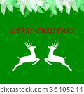 Created merry christmas background with reindeer 36405244