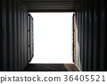 Open Side Container, border frame container on white background. 36405521