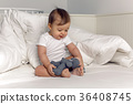 bed, blanket, toy 36408745