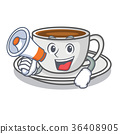 With megaphone coffee character cartoon style 36408905