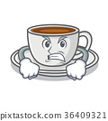 Angry coffee character cartoon style 36409321