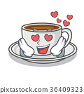 In love coffee character cartoon style 36409323