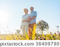 Romantic elderly couple enjoying health and nature 36409790