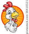 Chicken Rooster Cartoon Character 36410321