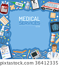 Medical Services Banner and Frame 36412335