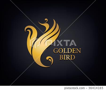 Golden Phoenix, bird brand, animal logo, luxury 36414165