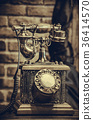 Brass antique vintage analog telephone 36414570