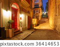 Night street in old town of Valletta, Malta 36414653