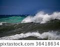 tsunami tropical hurricane on the sea 36418634