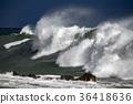 tsunami tropical hurricane on the sea 36418636