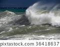 tsunami tropical hurricane on the sea 36418637