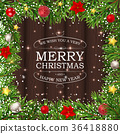 Merry Christmas and New Year Background. Vector 36418880