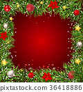 Merry Christmas and New Year Background. Vector 36418886
