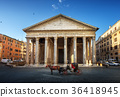 Pantheon, horse in the foreground, Rome, Italy 36418945