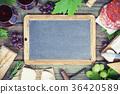 Food frame. Wine and snack set 36420589
