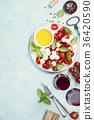 Italian antipasti snack for wine. Caprese salad 36420590