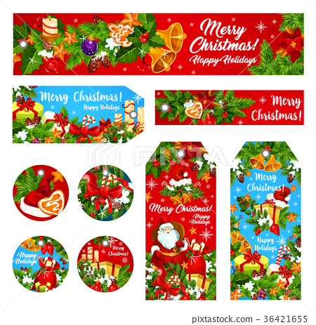 Christmas holiday wish vector greeting banner card 36421655